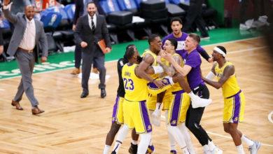 Photo of Espectacular final sobre la chicharra en el histórico clásico entre Boston Celtics y Los Angeles Lakers